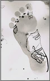 Fußreflexzonen mit Zeichnung der Organe